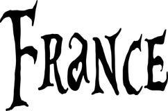 De illustratie van het de tekstteken van Frankrijk Stock Afbeelding