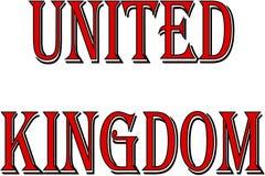 De illustratie van het de tekstteken van het Verenigd Koninkrijk stock foto's