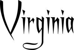 De illustratie van het de tekstteken van Virginia Stock Foto