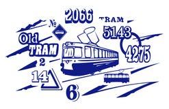 De Illustratie van het tramspoor. JPG en EPS Stock Afbeeldingen