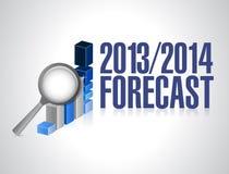 de illustratie van het van bedrijfs 2014 van 2013 voorspellingsconcept Royalty-vrije Stock Fotografie