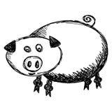 De illustratie van het varken Stock Foto