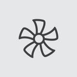 De illustratie van het ventilatorpictogram Royalty-vrije Stock Afbeeldingen