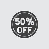 de illustratie van het 50 verkooppictogram Stock Foto's