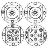 De illustratie van het vier structuurontwerp Royalty-vrije Stock Afbeeldingen
