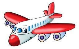 De illustratie van het vliegtuig Stock Foto's