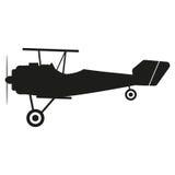 De illustratie van het vliegtuigenteken Vector Zwart pictogram op witte achtergrond Royalty-vrije Stock Afbeeldingen