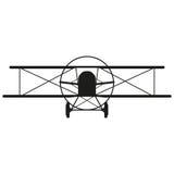 De illustratie van het vliegtuigenteken Vector Zwart pictogram op witte achtergrond Stock Foto