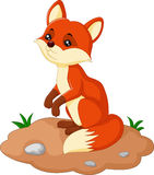 De illustratie van het vosbeeldverhaal stock illustratie