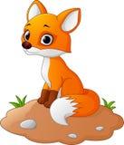 De illustratie van het vosbeeldverhaal vector illustratie