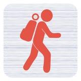 De illustratie van het wandelingspictogram Stock Fotografie
