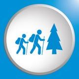 De illustratie van het wandelingspictogram Stock Foto's