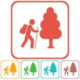 De illustratie van het wandelingspictogram Royalty-vrije Stock Afbeeldingen