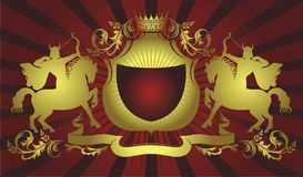 De illustratie van het wapenschild Stock Foto