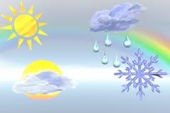 De illustratie van het weer. Stock Afbeeldingen