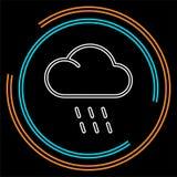De illustratie van het weeronweer, het symbool van de zonregen vector illustratie