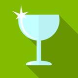 De illustratie van het wijnglaspictogram stock illustratie