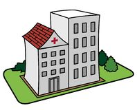 De Illustratie van het ziekenhuis Royalty-vrije Stock Afbeeldingen