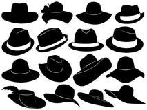 De Illustratie van hoeden Stock Foto's