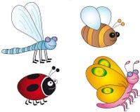 De illustratie van insecten Stock Afbeelding
