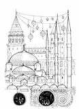 De Illustratie van Istanboel royalty-vrije illustratie