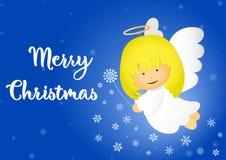 De illustratie van de Kerstmisengel vector illustratie