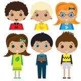 De illustratie van kinderenkarakters Royalty-vrije Stock Afbeeldingen