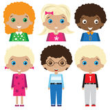 De illustratie van kinderenkarakters Stock Fotografie