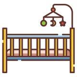 De illustratie van LineColor van de babyvoederbak vector illustratie