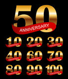 De Illustratie van malplaatjelogo anniversary collection set vector Stock Foto