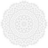 De Illustratie van Mandala Cirkel ingewikkeld patroon Het ontwerpmalplaatje van de kantcirkel Abstracte geometrische monolijnacht Royalty-vrije Stock Fotografie