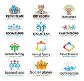 De illustratie van menigtenteam design Royalty-vrije Stock Afbeelding
