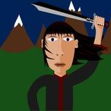 De Illustratie van Ninja stock illustratie