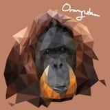 De Illustratie van orang-oetanutan in Mozaïekstijl vector illustratie