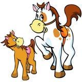 De illustratie van paarden stock illustratie