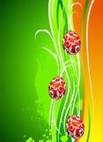 De illustratie van Pasen met geschilderde eieren Royalty-vrije Stock Foto