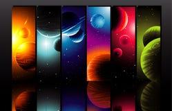 De illustratie van planeten Stock Afbeelding