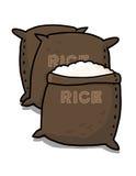 De illustratie van rijstzakken Royalty-vrije Stock Afbeelding