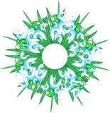 De illustratie van sneeuwklokjes Stock Fotografie