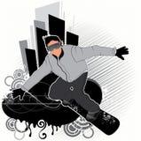 De illustratie van Snowboarder Stock Illustratie