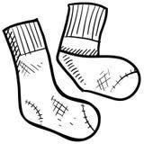 De illustratie van sokken Royalty-vrije Stock Foto