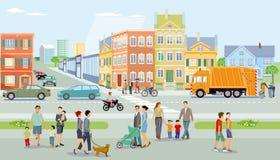 De illustratie van de stadsactiviteit vector illustratie
