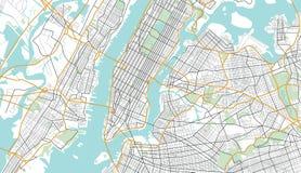 De Illustratie van de de Stadskaart van New York Stock Fotografie