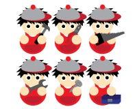 De illustratie van technicusCartoon Stock Fotografie
