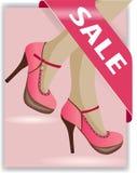 De illustratie van verkoopschoenen Stock Fotografie