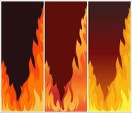 De illustratie van vlammen   Stock Foto's