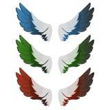 De illustratie van vleugels Stock Fotografie