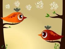 De Illustratie van vogels Royalty-vrije Stock Foto