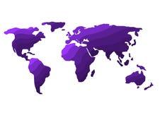 de illustratie van de wereldkaart Stock Afbeeldingen