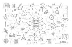 De illustratie van de wetenschapslijn vector illustratie